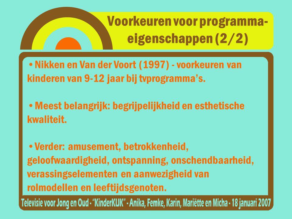 Voorkeuren voor programma- eigenschappen (2/2)