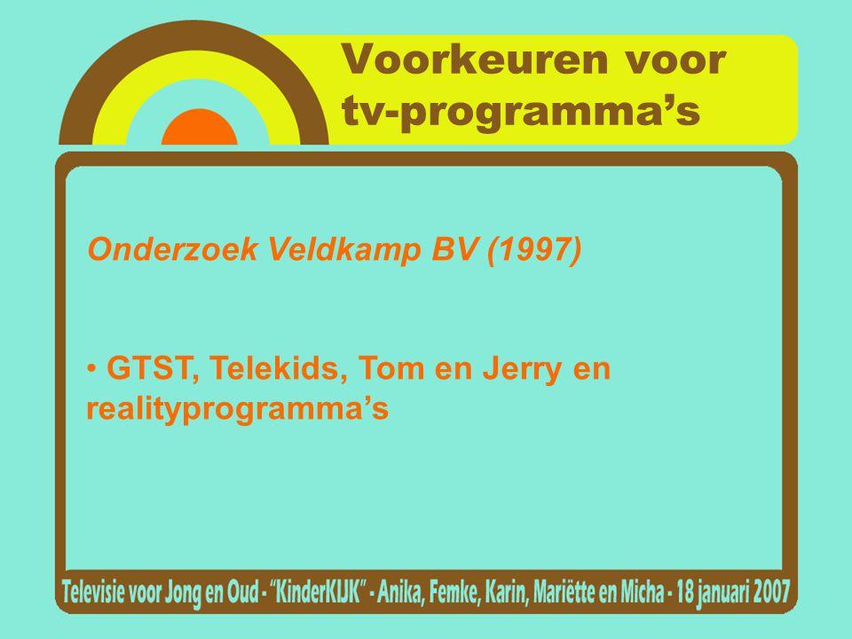 Voorkeuren voor tv-programma's