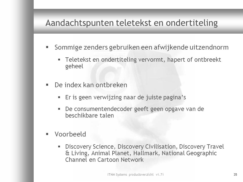 Aandachtspunten teletekst en ondertiteling