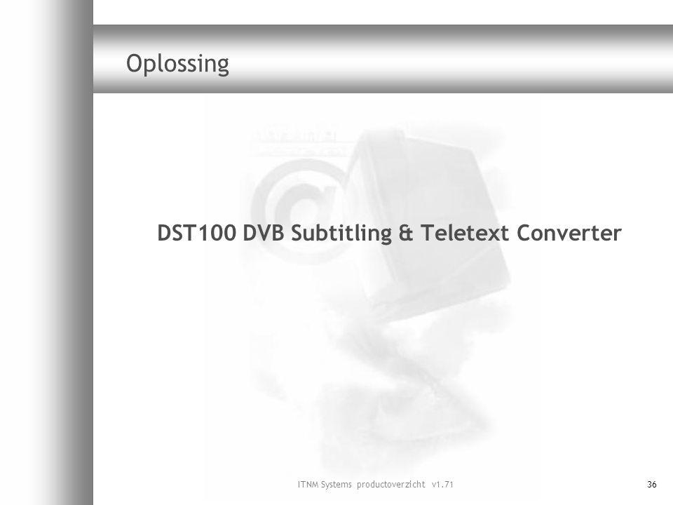 DST100 DVB Subtitling & Teletext Converter