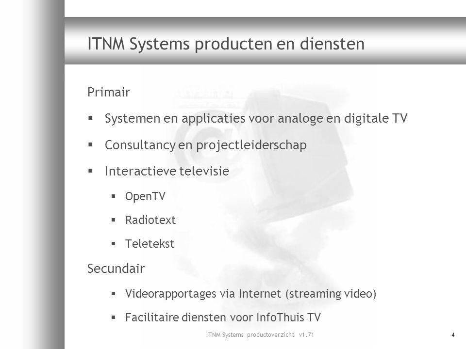 ITNM Systems producten en diensten