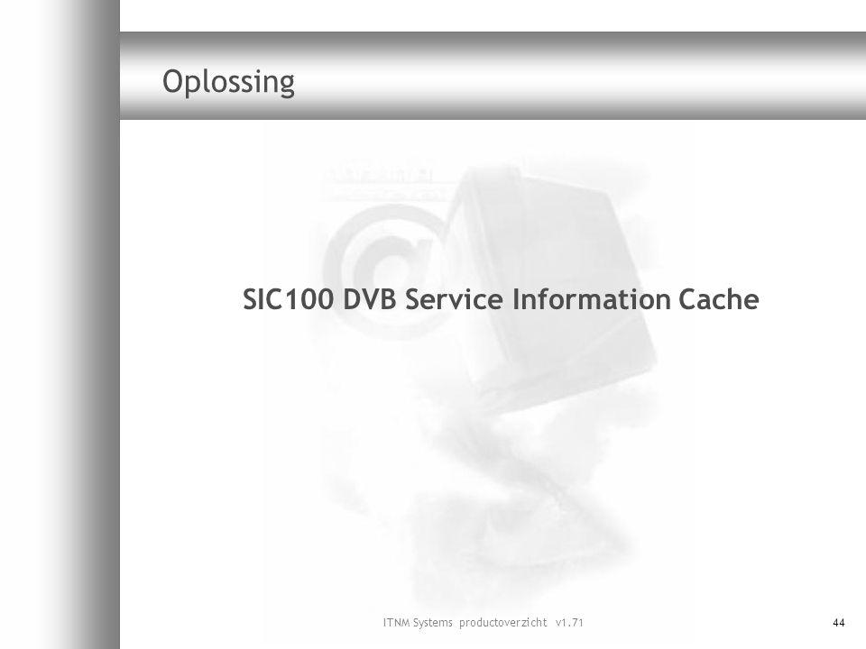 SIC100 DVB Service Information Cache
