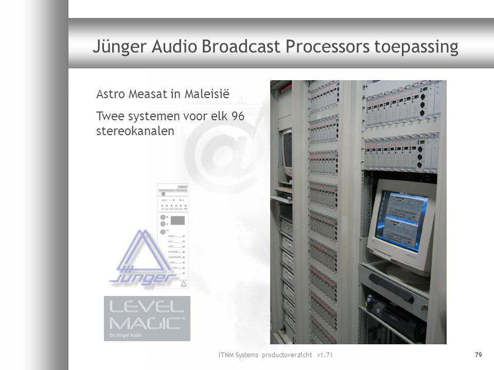 Jünger Audio Broadcast Processors toepassing