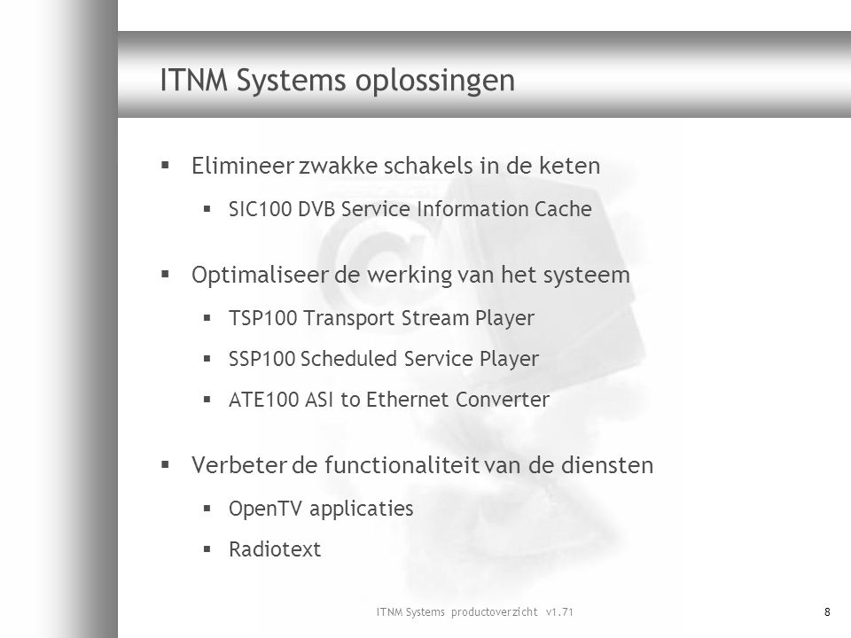 ITNM Systems oplossingen