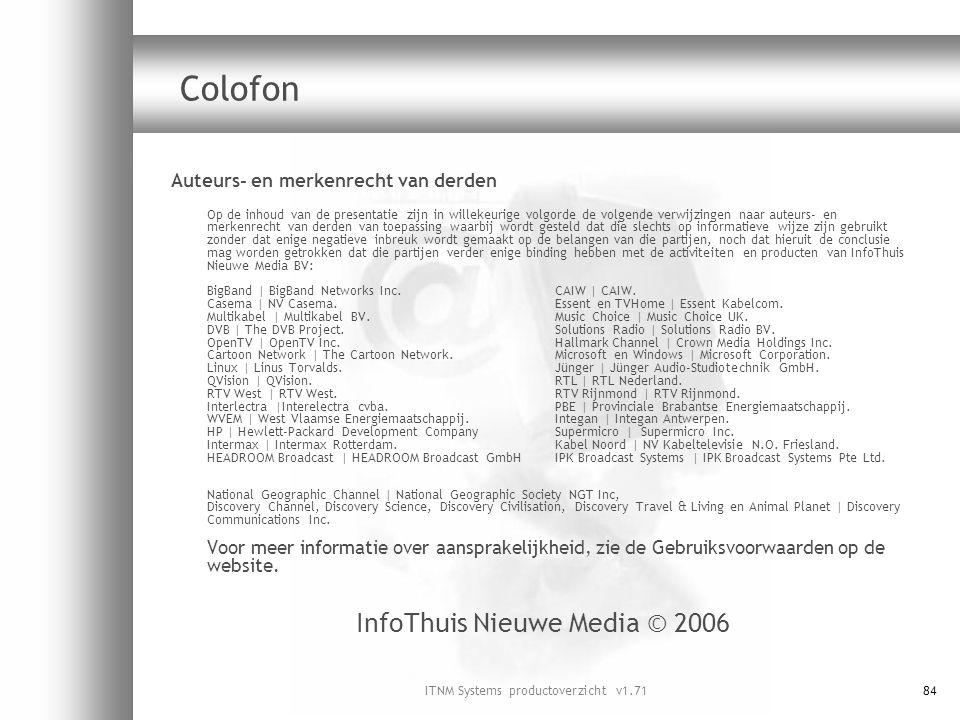 Colofon InfoThuis Nieuwe Media © 2006