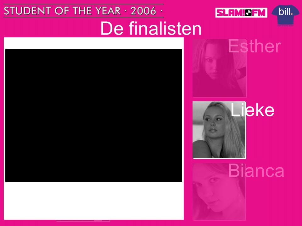De finalisten Tom Esther Nick Lieke Steffen Bianca Naam: Lieke Engels