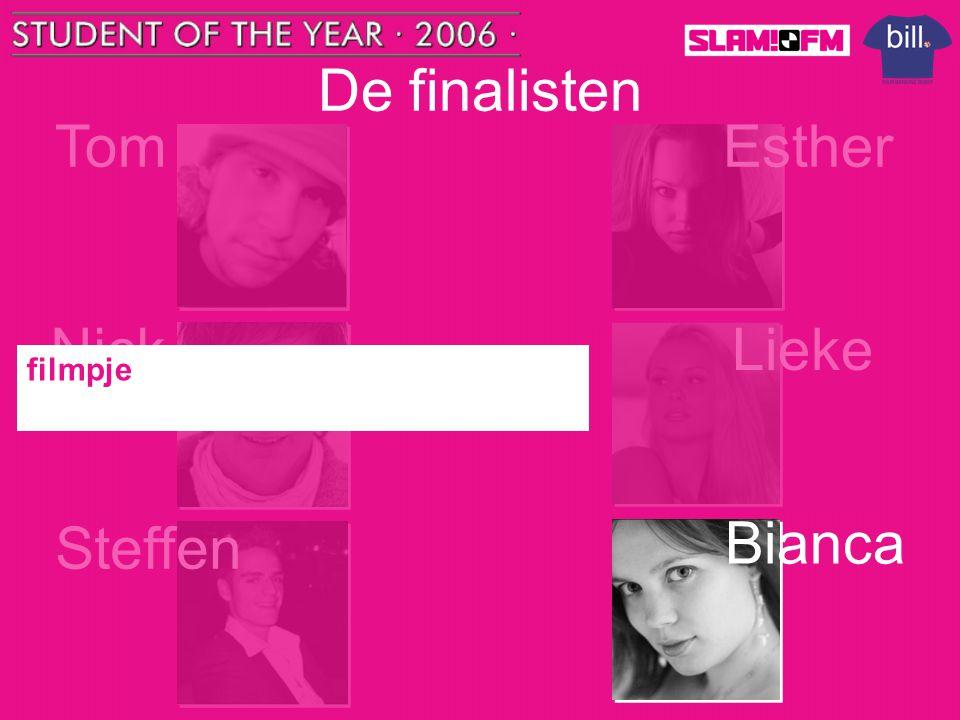 De finalisten Tom Esther Nick Lieke filmpje Steffen Bianca