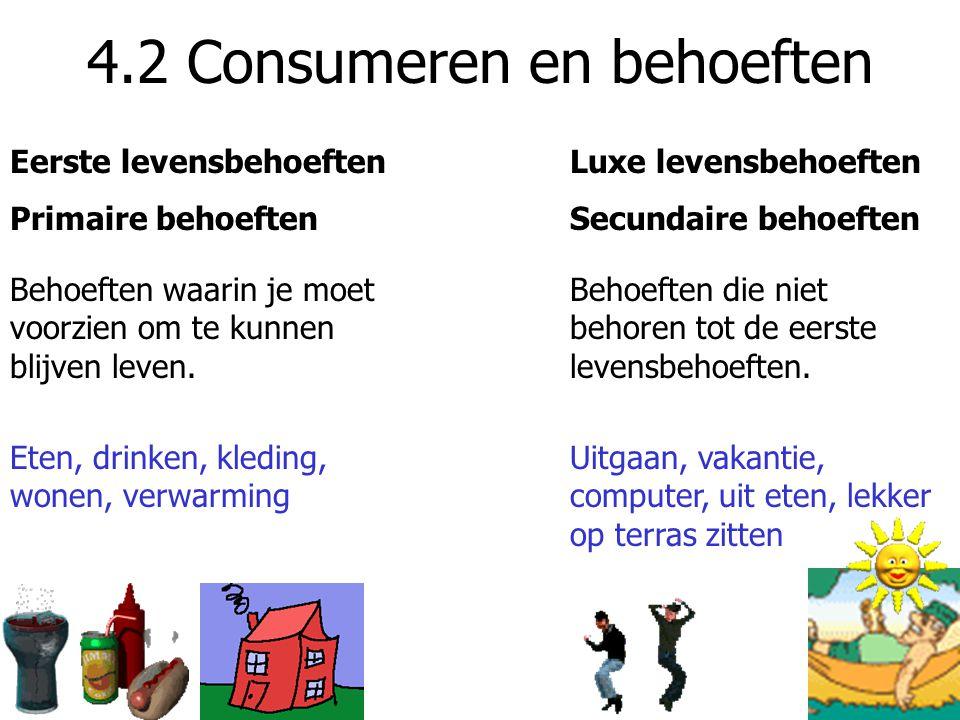 4.2 Consumeren en behoeften