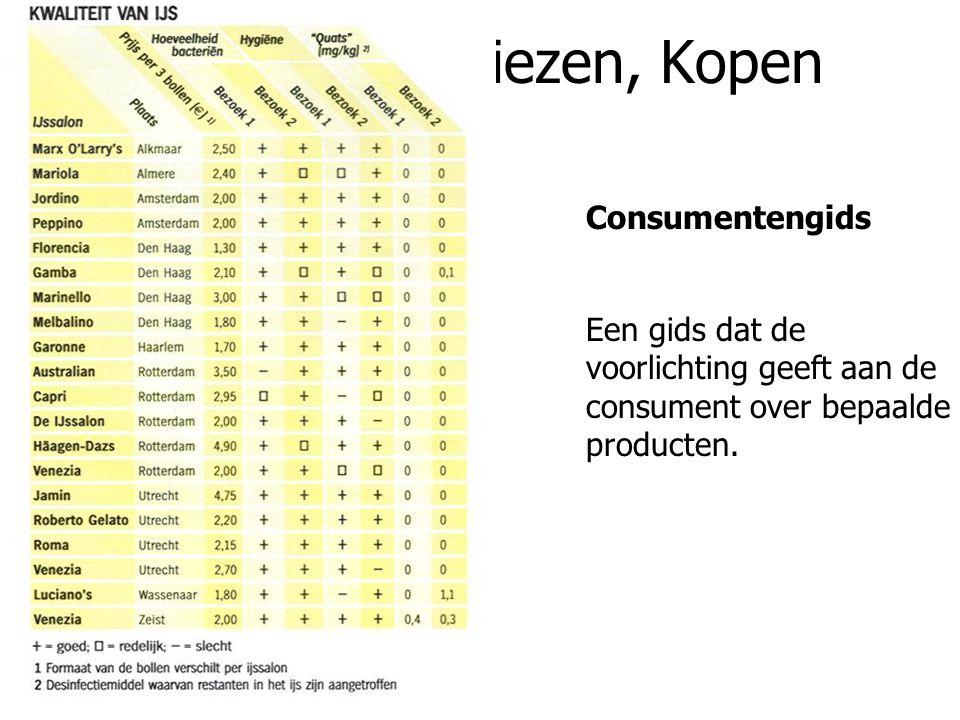4.3 Keuren, Kiezen, Kopen www.consumentenbond.nl Consumentenbond