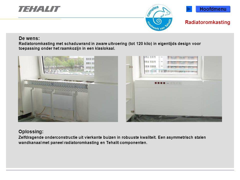 Radiatoromkasting Hoofdmenu