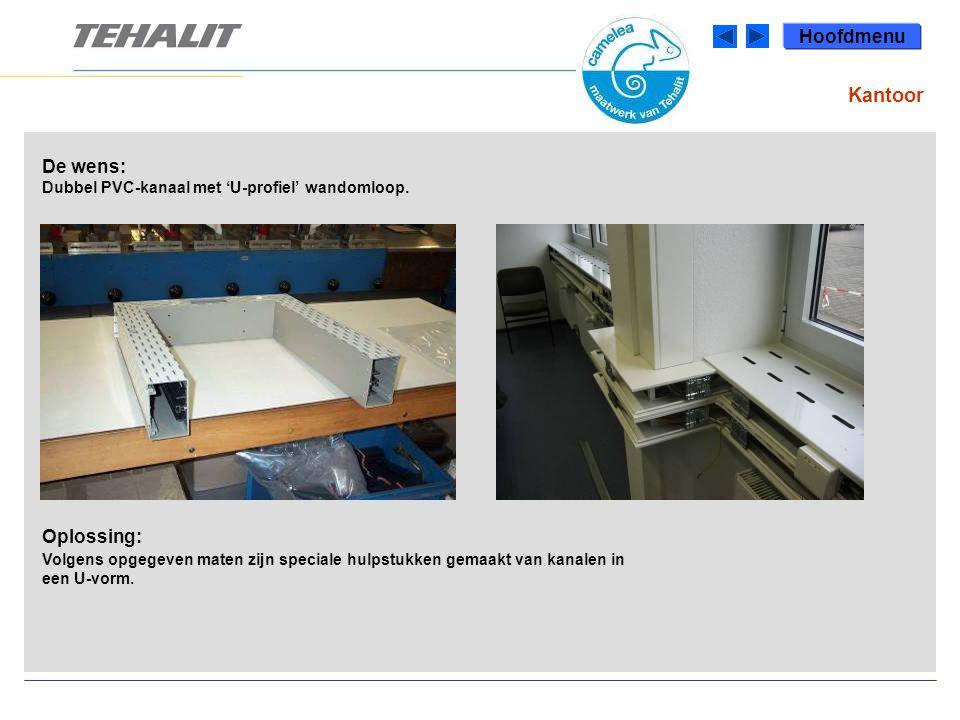De wens: Dubbel PVC-kanaal met 'U-profiel' wandomloop.