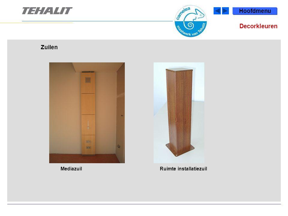 Hoofdmenu Decorkleuren Zuilen Mediazuil Ruimte installatiezuil