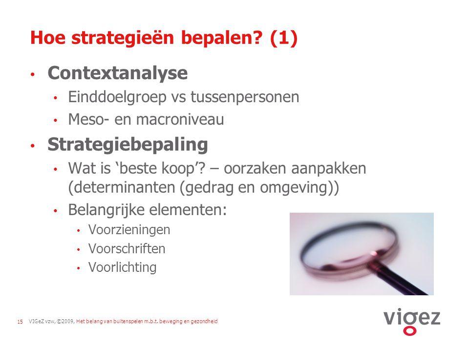 Hoe strategieën bepalen (1)