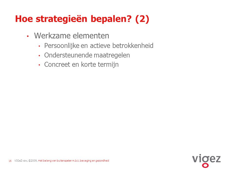 Hoe strategieën bepalen (2)