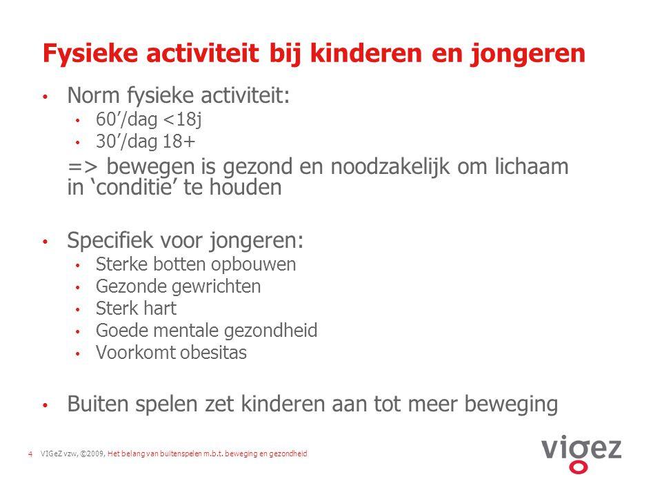 Fysieke activiteit bij kinderen en jongeren