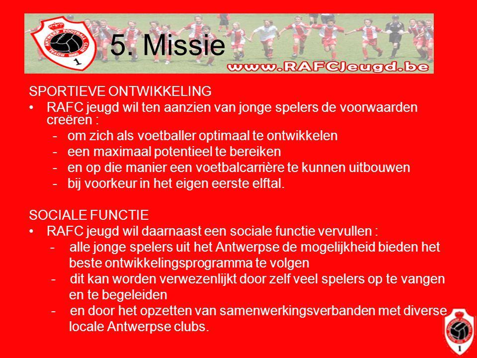 5. Missie SPORTIEVE ONTWIKKELING