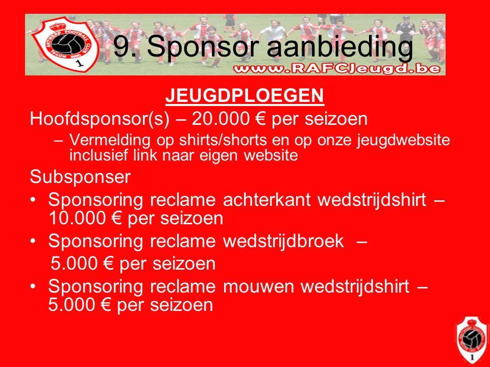 9. Sponsor aanbieding JEUGDPLOEGEN