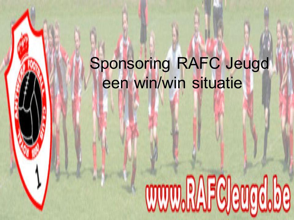 Sponsoring RAFC Jeugd een win/win situatie