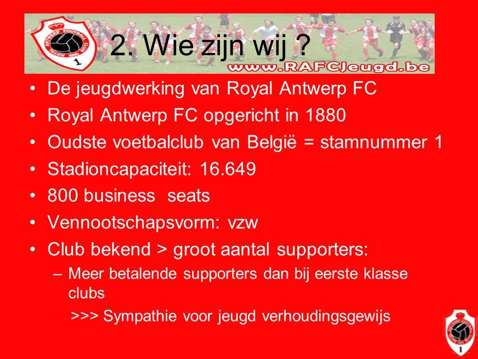 2. Wie zijn wij De jeugdwerking van Royal Antwerp FC