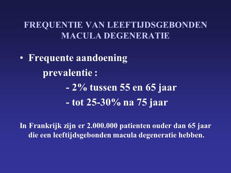 FREQUENTIE VAN LEEFTIJDSGEBONDEN MACULA DEGENERATIE