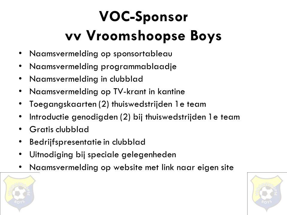 VOC-Sponsor vv Vroomshoopse Boys