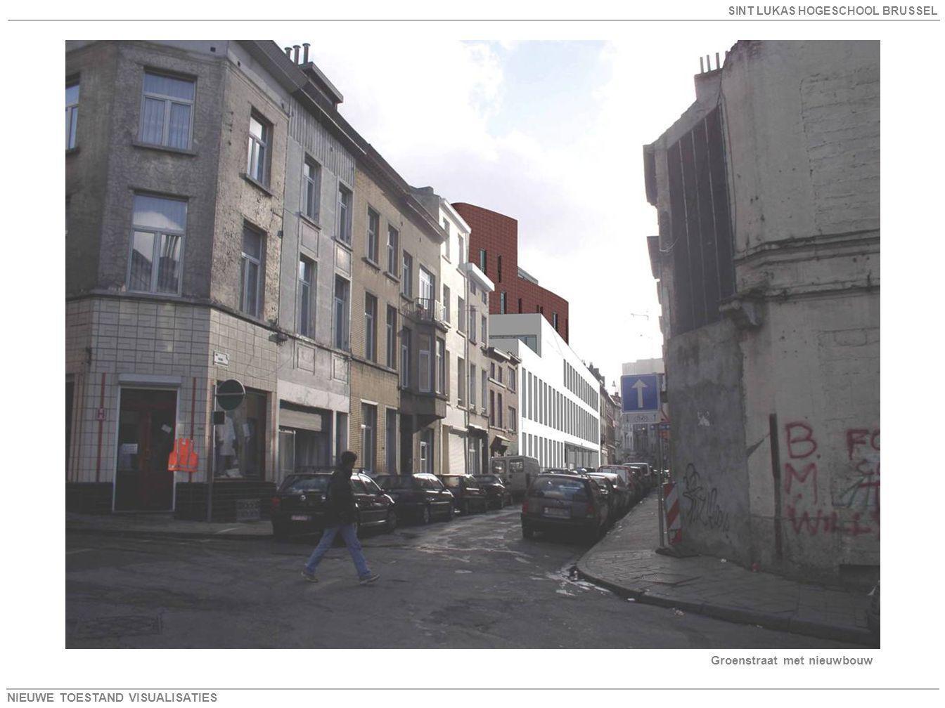 Groenstraat met nieuwbouw