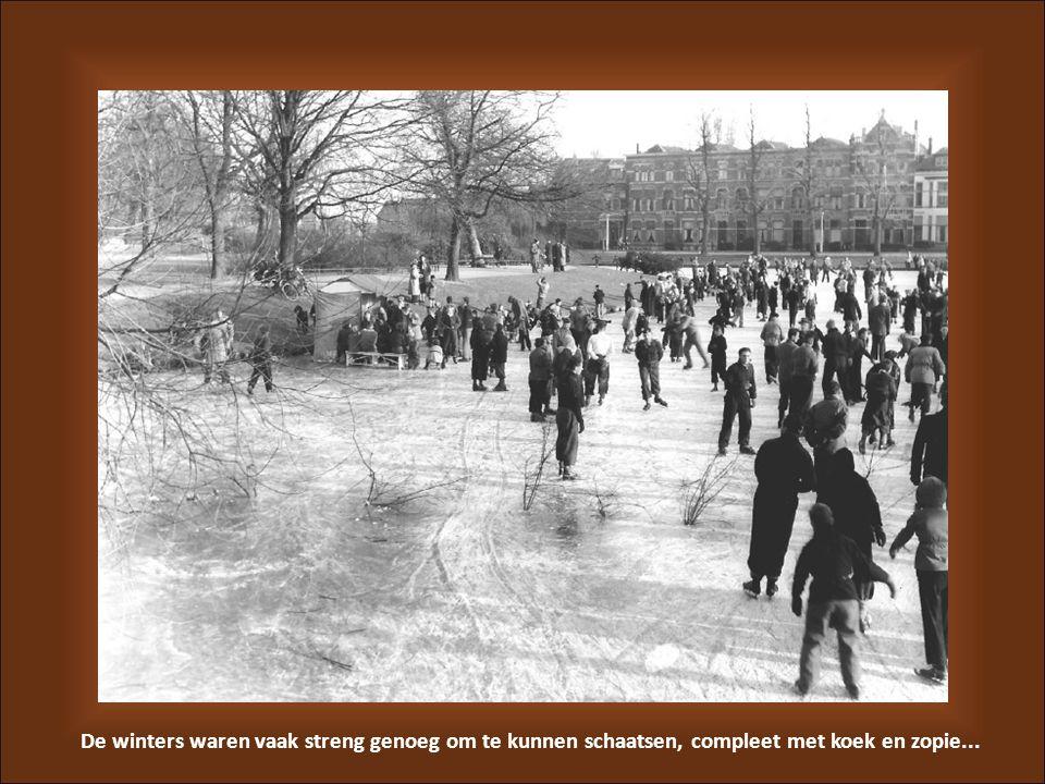 De winters waren vaak streng genoeg om te kunnen schaatsen, compleet met koek en zopie...