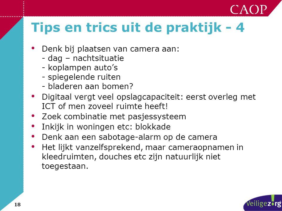 Tips en trics uit de praktijk - 4
