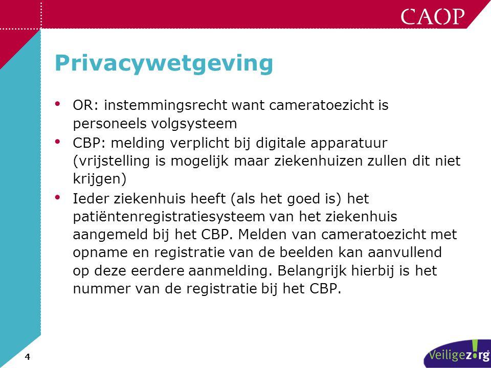 Privacywetgeving OR: instemmingsrecht want cameratoezicht is personeels volgsysteem.