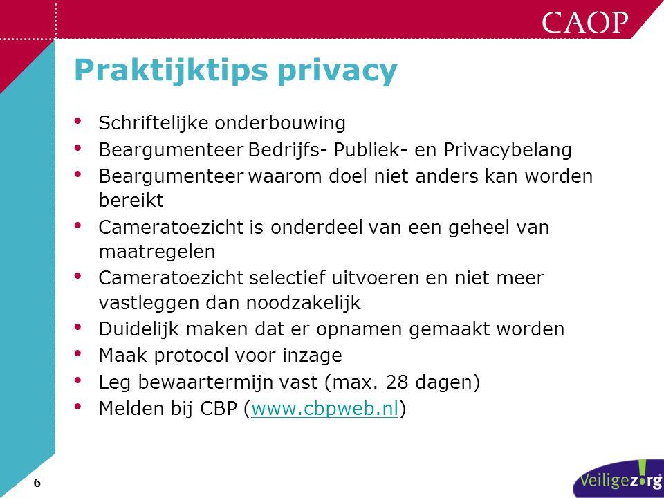 Praktijktips privacy Schriftelijke onderbouwing