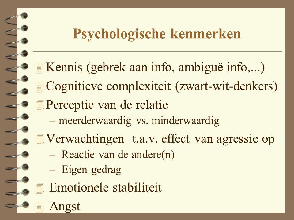 Psychologische kenmerken