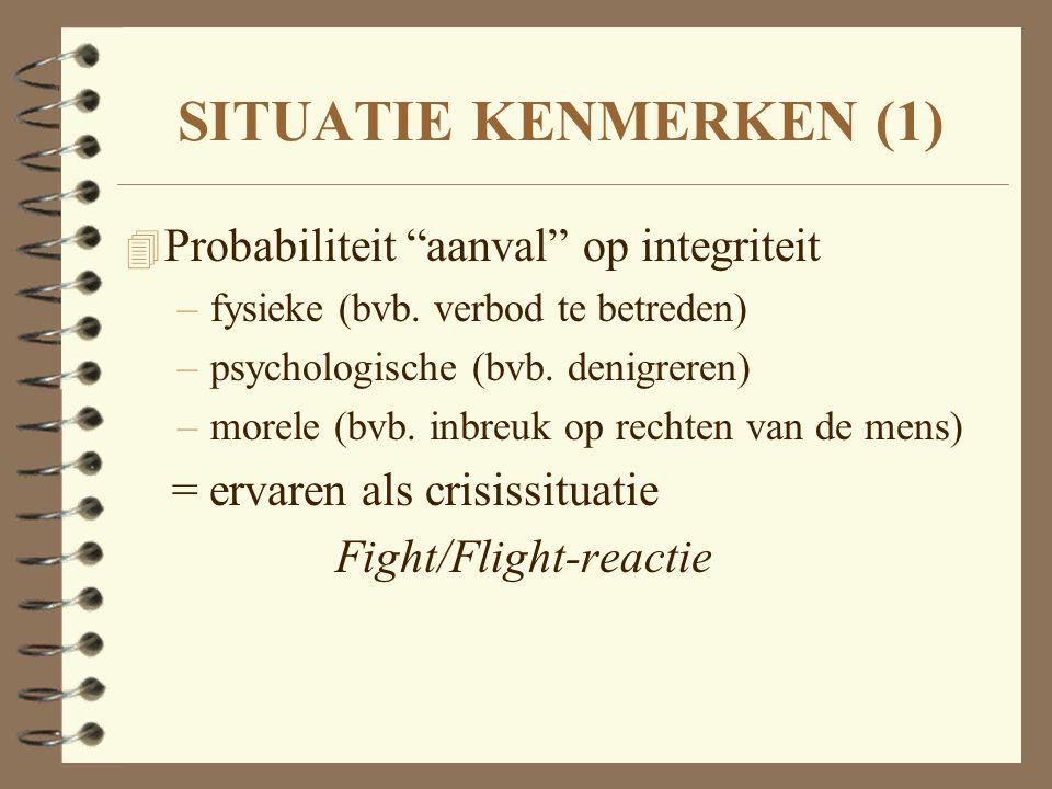 SITUATIE KENMERKEN (1) Probabiliteit aanval op integriteit