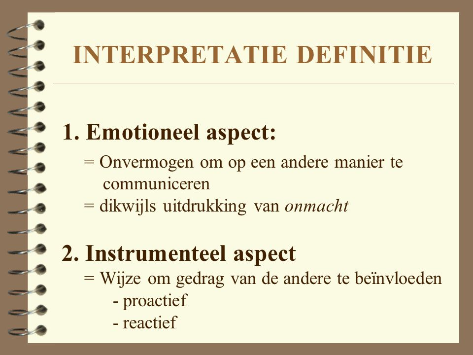 INTERPRETATIE DEFINITIE