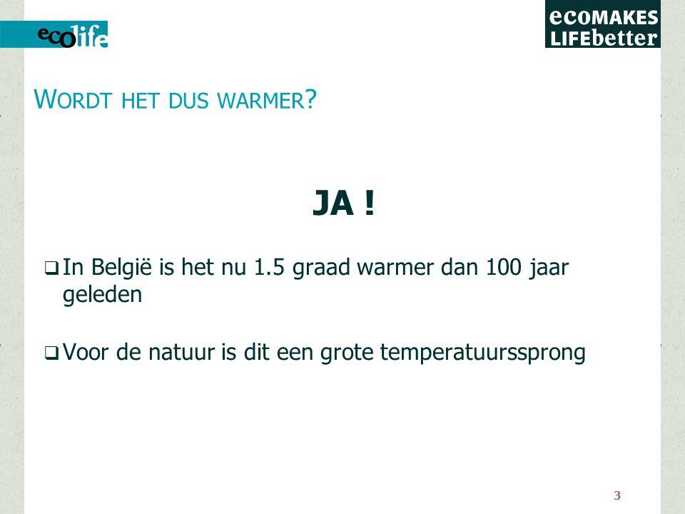 Hoe werkt die opwarming precies