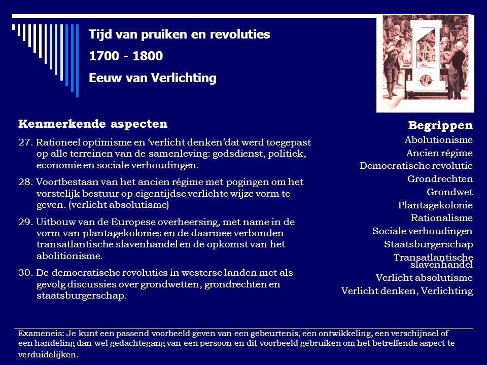 Tijd van pruiken en revoluties 1700 - 1800 Eeuw van Verlichting