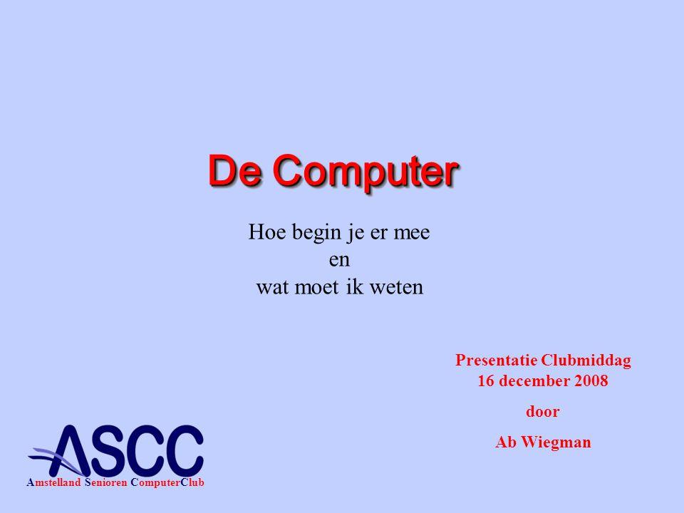 Presentatie Clubmiddag 16 december 2008