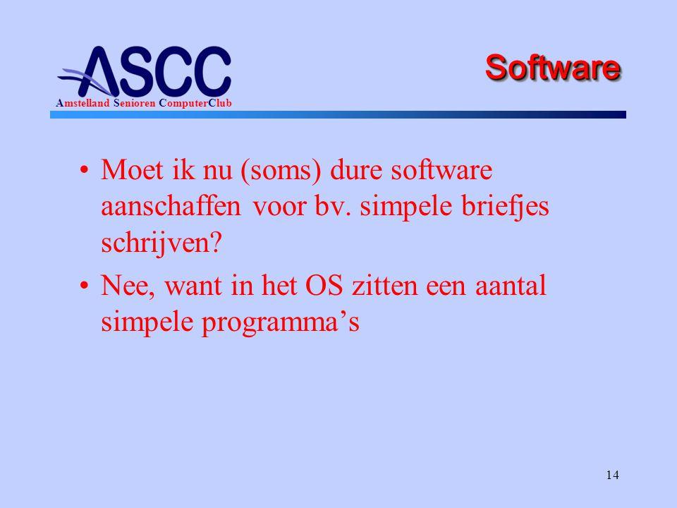 Software Moet ik nu (soms) dure software aanschaffen voor bv.
