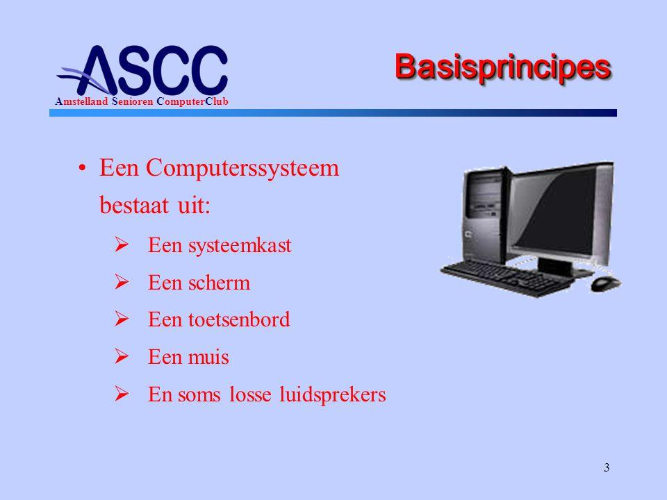 Basisprincipes Een Computerssysteem bestaat uit: Een systeemkast