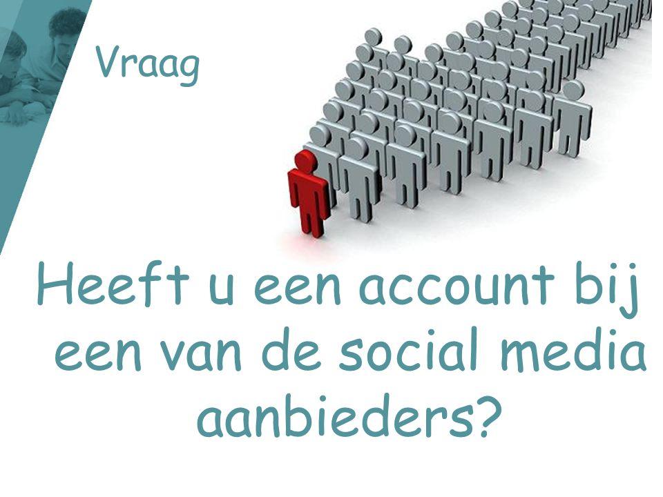 Heeft u een account bij een van de social media aanbieders