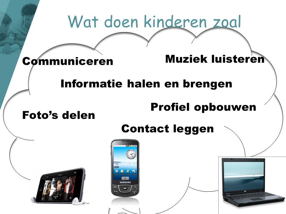 Wat doen kinderen zoal Muziek luisteren Communiceren