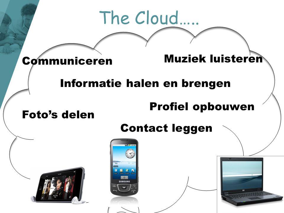 The Cloud….. Muziek luisteren Communiceren Informatie halen en brengen