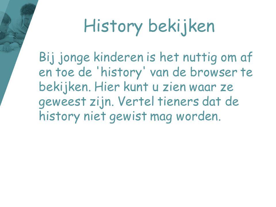 History bekijken