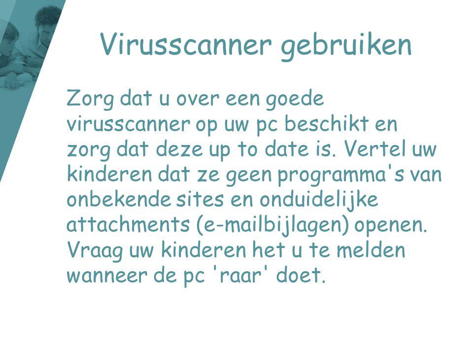Virusscanner gebruiken