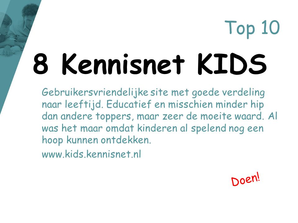 8 Kennisnet KIDS Top 10 Doen!