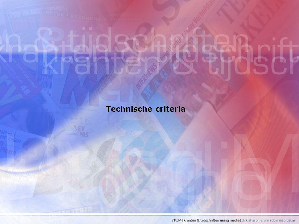 Technische criteria