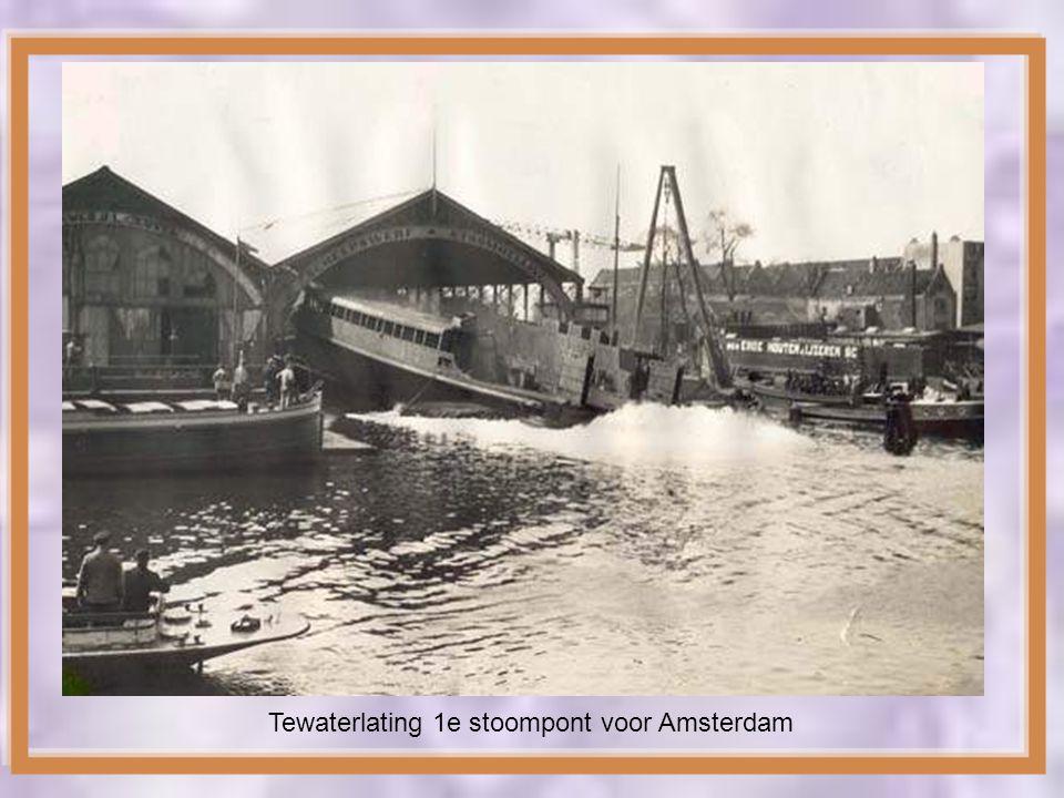 Tewaterlating 1e stoompont voor Amsterdam