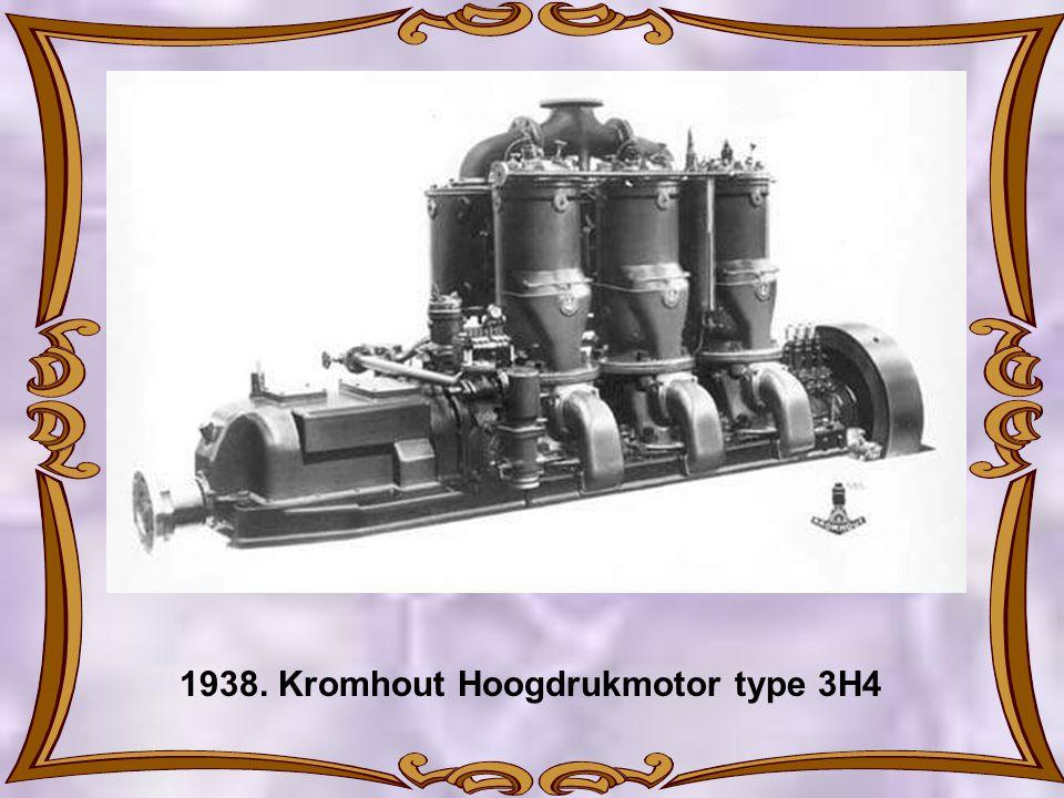1938. Kromhout Hoogdrukmotor type 3H4