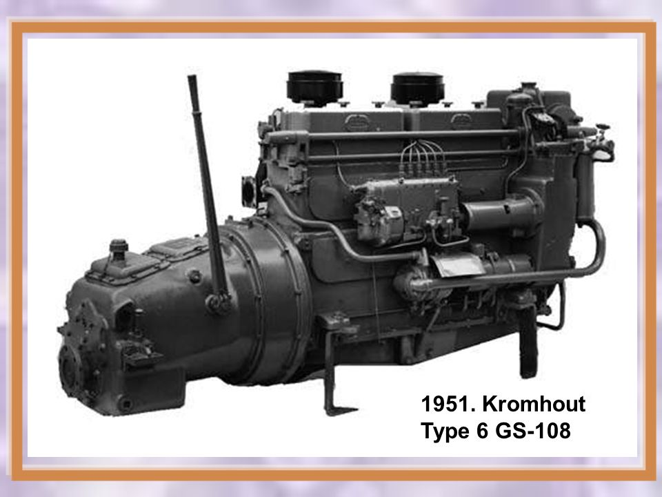 1951. Kromhout Type 6 GS-108