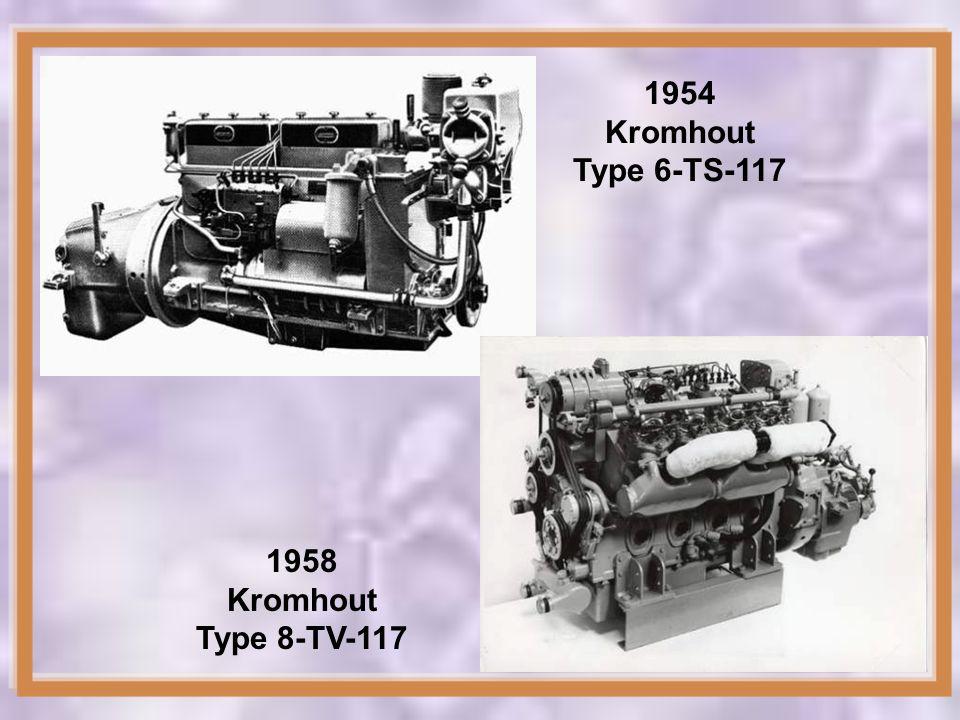 1954 Kromhout Type 6-TS-117 1958 Kromhout Type 8-TV-117