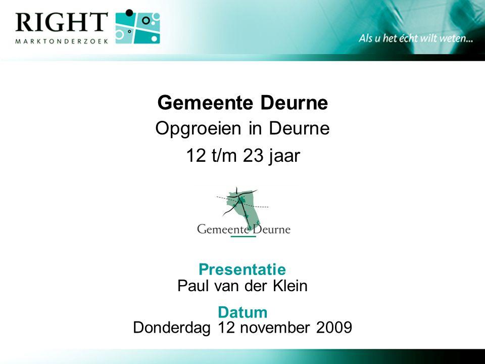 Gemeente Deurne Opgroeien in Deurne 12 t/m 23 jaar Paul van der Klein